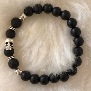 Jewelry - 🤩Black Onyx and Lava Rock 💀 Bracelet